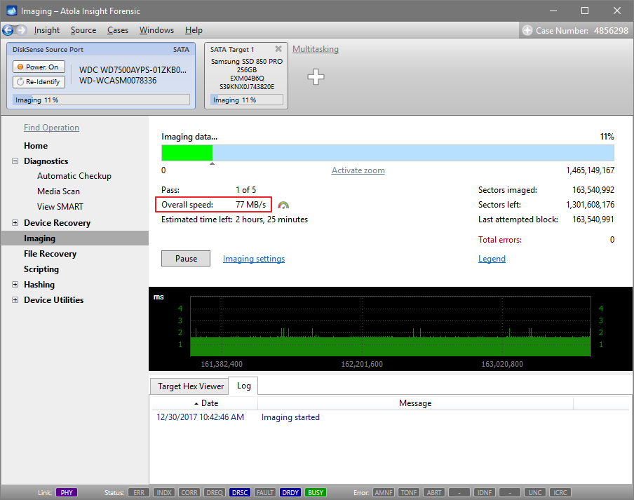 WD WD7500AYPS imaging speed