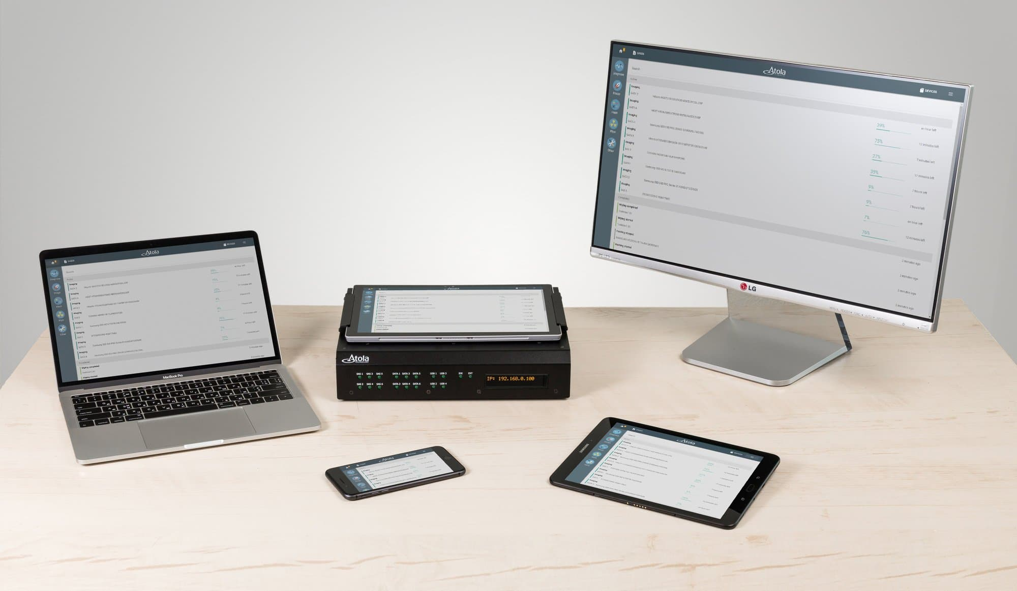 Multiple devices to manage TaskForce